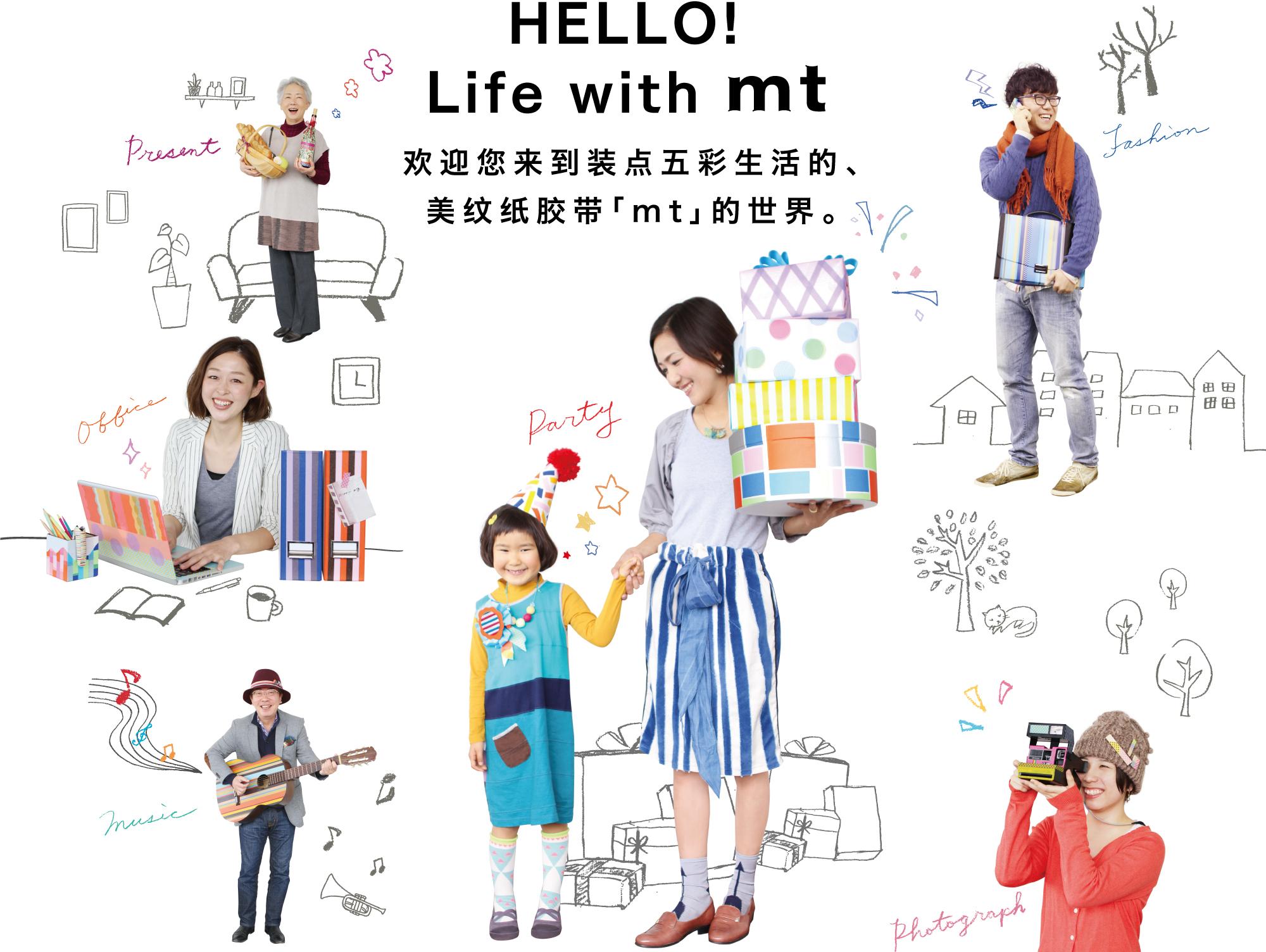 欢迎您来到装点五彩生活的、美纹纸胶带「mt」的世界。