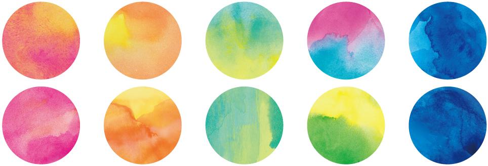 水彩 (1枚ずつ柄が異なります)