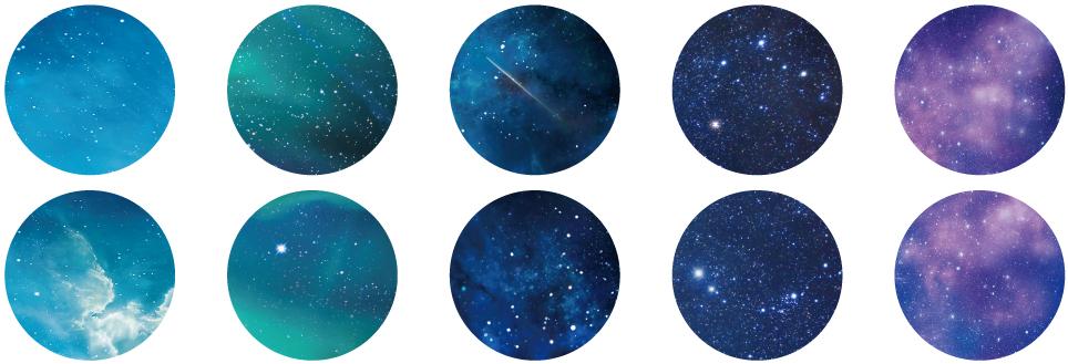 星空 (1枚ずつ柄が異なります)