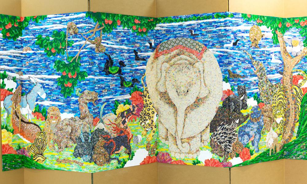 鳥獣花木図屏風 2014-2015