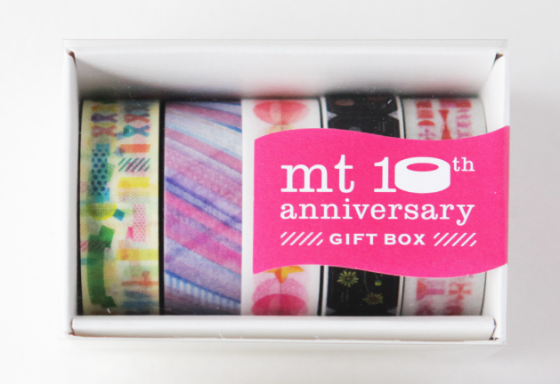 mt GIFT BOX 10th Anniversary GIFT BOX 15mm×7m×5rolls