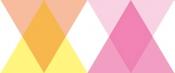 triangle and diamond pink