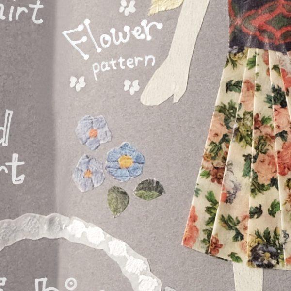 Fashion × mt ex patchwork, floral design