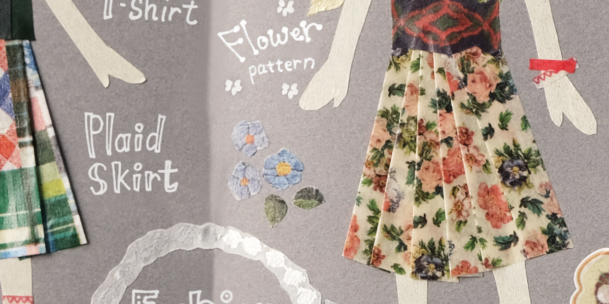 Fashion × mt ex パッチワーク、花柄